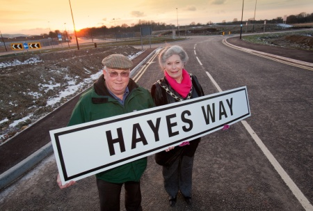 Opening of Hayes Way, Patchway, Bristol