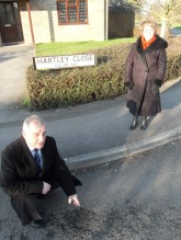 Councillors Paul and Wendy Whittle in Hartley Close