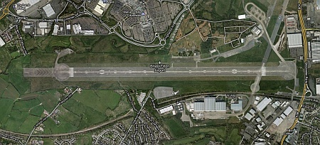 Satellite view of Filton Airfield, Bristol