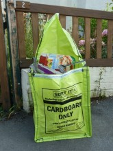 South Gloucestershire cardboard recycling bag