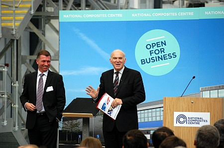 Vince Cable opens the National Composites Centre, Bristol