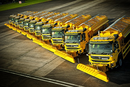South Gloucestershire Council's fleet of gritters