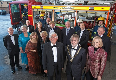 Guests at a dinner in aid of fire service charity GAFSIP.