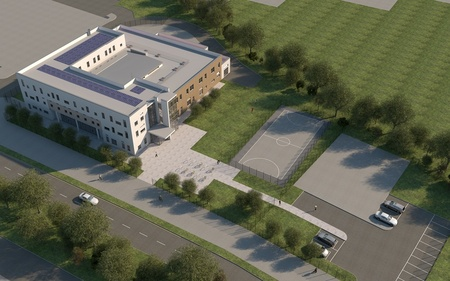Proposed Bristol Technology & Engineering Academy in Stoke Gifford, Bristol.