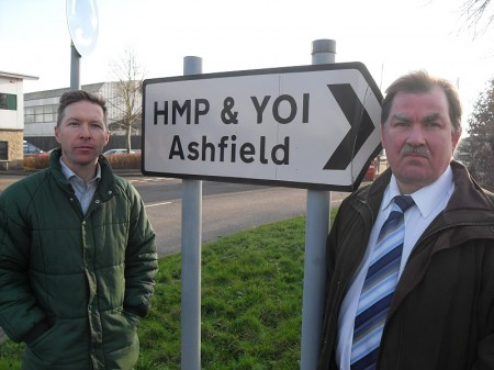 Cllrs Ben Stokes and Steve Reade at HMYOI Ashfield in Pucklechurch.