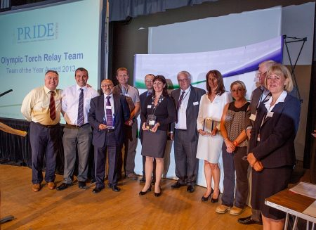 South Gloucestershire Council's 'team of the year' award winners for 2013.