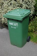 A South Gloucestershire Council  'green bin'.