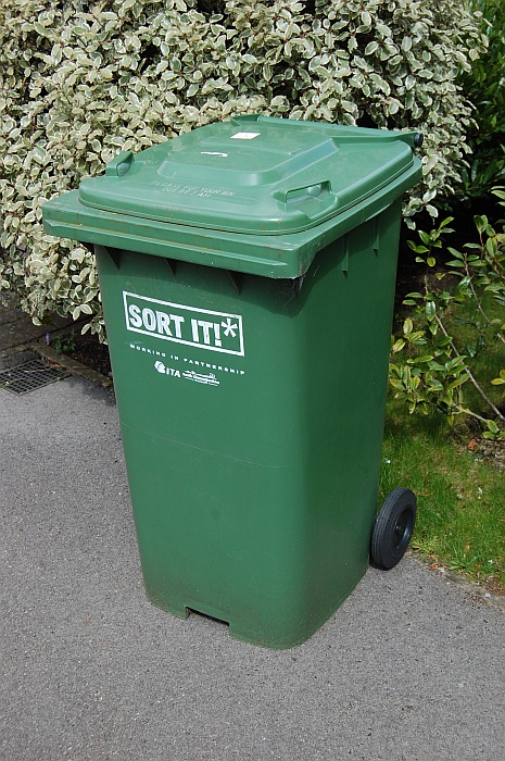 A South Gloucestershire Council 'green bin'.