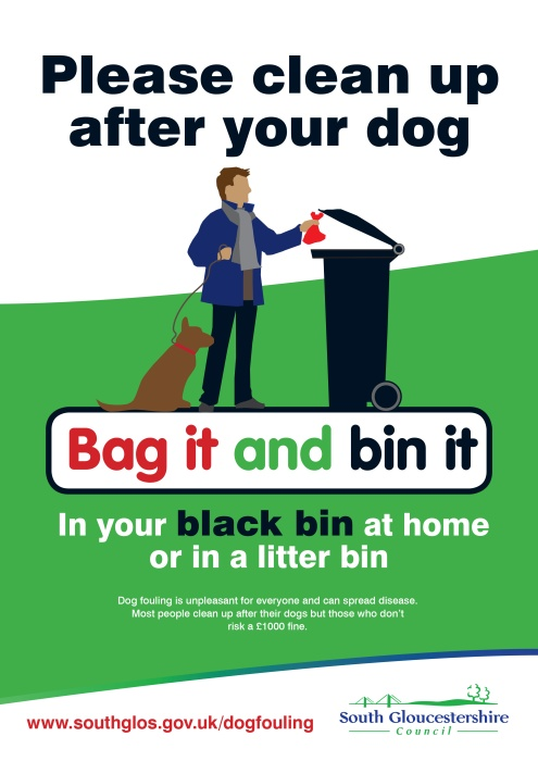 Dog mess: Bag it and bin it.