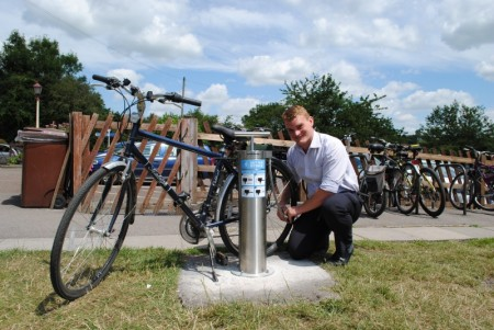 Public bicycle pump at Bitton.