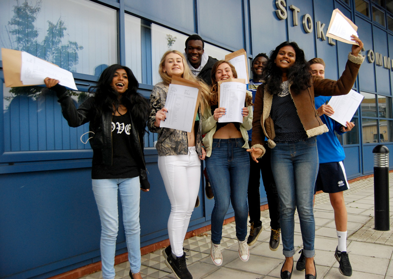 GCSE high-achievers at Bradley Stoke Community School.