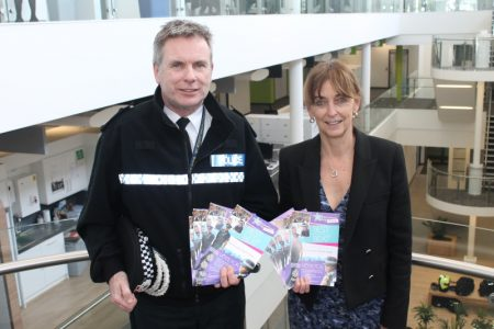 PCC Sue Mountstevens and Acting Chief Constable John Long promote the 2015 Neighbourhood Policing Awards.