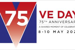 Logo of the VE Day 75th anniversary celebration.