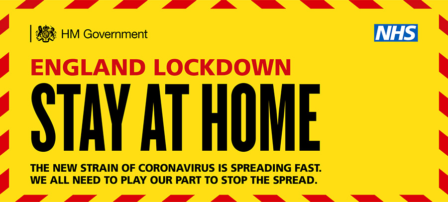 COVID-19 England Lockdown (January 2021): Stay at Home